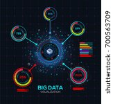 abstract big data visualization.... | Shutterstock .eps vector #700563709