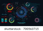 abstract big data visualization ... | Shutterstock .eps vector #700563715