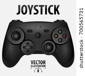 Black Realistic Game Joystick...