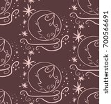 vector  brown seamless pattern  ... | Shutterstock .eps vector #700566691