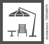 garden furniture icon sign... | Shutterstock .eps vector #700568074