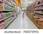 blurred shopping mall for... | Shutterstock . vector #700573951