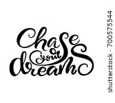 """vector lettering """"chase your... 