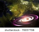 fantasy space galaxy - stock photo
