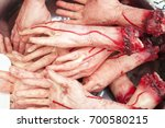 fake human hands. made of... | Shutterstock . vector #700580215