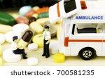 drug prescription for treatment ... | Shutterstock . vector #700581235