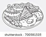 hand drawn line art vector...   Shutterstock .eps vector #700581535
