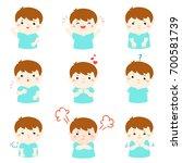 set of cartoon vector kid... | Shutterstock .eps vector #700581739