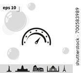 speedometer icon. | Shutterstock .eps vector #700583989