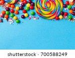 tasty appetizing party... | Shutterstock . vector #700588249