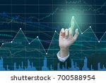 businessman on digital stock... | Shutterstock . vector #700588954