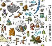 travel to baikal  russia.... | Shutterstock .eps vector #700589425