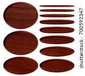 rich brown wood grain patterned ... | Shutterstock . vector #700592347