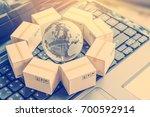 international freight or... | Shutterstock . vector #700592914