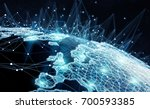 global network and datas... | Shutterstock . vector #700593385