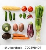 beautiful fresh vegetables... | Shutterstock . vector #700598407