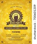 oktoberfest beer festival... | Shutterstock .eps vector #700601209