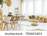 fruit tree on shelf in living... | Shutterstock . vector #700601821