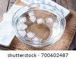 Ice Cubes In A Glass Bowl