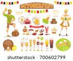 oktoberfest poster depicting... | Shutterstock .eps vector #700602799