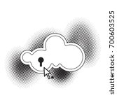 cloud icon with keyhole over... | Shutterstock .eps vector #700603525