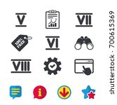 roman numeral icons. 5  6  7...