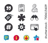 quote  asterisk footnote icons. ...