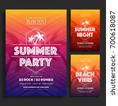 summer party flyer or poster... | Shutterstock .eps vector #700618087