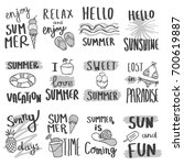 vector hand drawn set with... | Shutterstock .eps vector #700619887