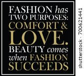fashion quote on a black... | Shutterstock .eps vector #700621441