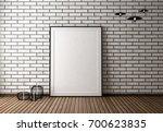 mock up poster frame on the... | Shutterstock . vector #700623835
