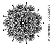 mandalas for coloring book.... | Shutterstock .eps vector #700623979