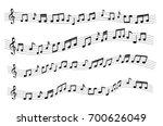floating sample random music... | Shutterstock .eps vector #700626049