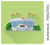 flat design long shadow soccer... | Shutterstock .eps vector #700627051