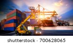 logistics and transportation of ... | Shutterstock . vector #700628065
