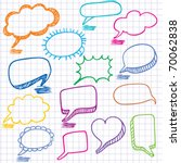 vector bubbles for speech.... | Shutterstock .eps vector #70062838