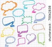 vector bubbles for speech.... | Shutterstock .eps vector #70062838