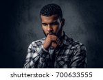 dramatic portrait of black... | Shutterstock . vector #700633555