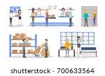 post office interior set.... | Shutterstock . vector #700633564
