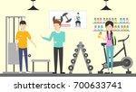 sport store interior.... | Shutterstock . vector #700633741