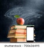 back to school. smartphone ... | Shutterstock . vector #700636495