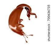 a splash of chocolate. 3d...   Shutterstock . vector #700636735