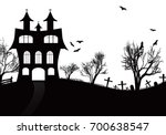 halloween background with... | Shutterstock .eps vector #700638547