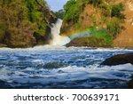 nile river   murchison falls n... | Shutterstock . vector #700639171