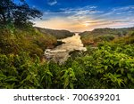 nile river   murchison falls n... | Shutterstock . vector #700639201