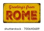 vintage metal sign on a white... | Shutterstock . vector #700640689