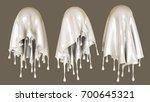 a splash of milk. 3d... | Shutterstock . vector #700645321