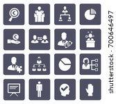 business icon set vector | Shutterstock .eps vector #700646497