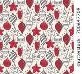 christmas seamless pattern with ...   Shutterstock .eps vector #700647709