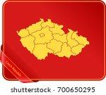map of czech republic | Shutterstock .eps vector #700650295